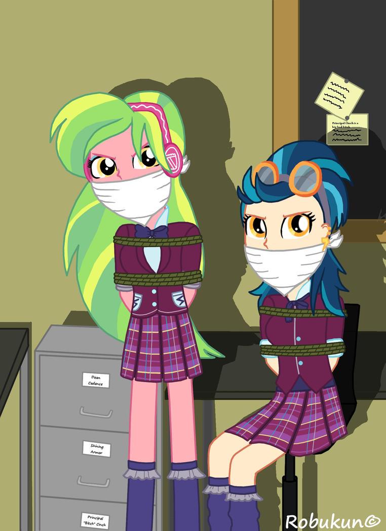 Lemon Zest And Indigo Zap As Bad Schoolgirls By Robukun On