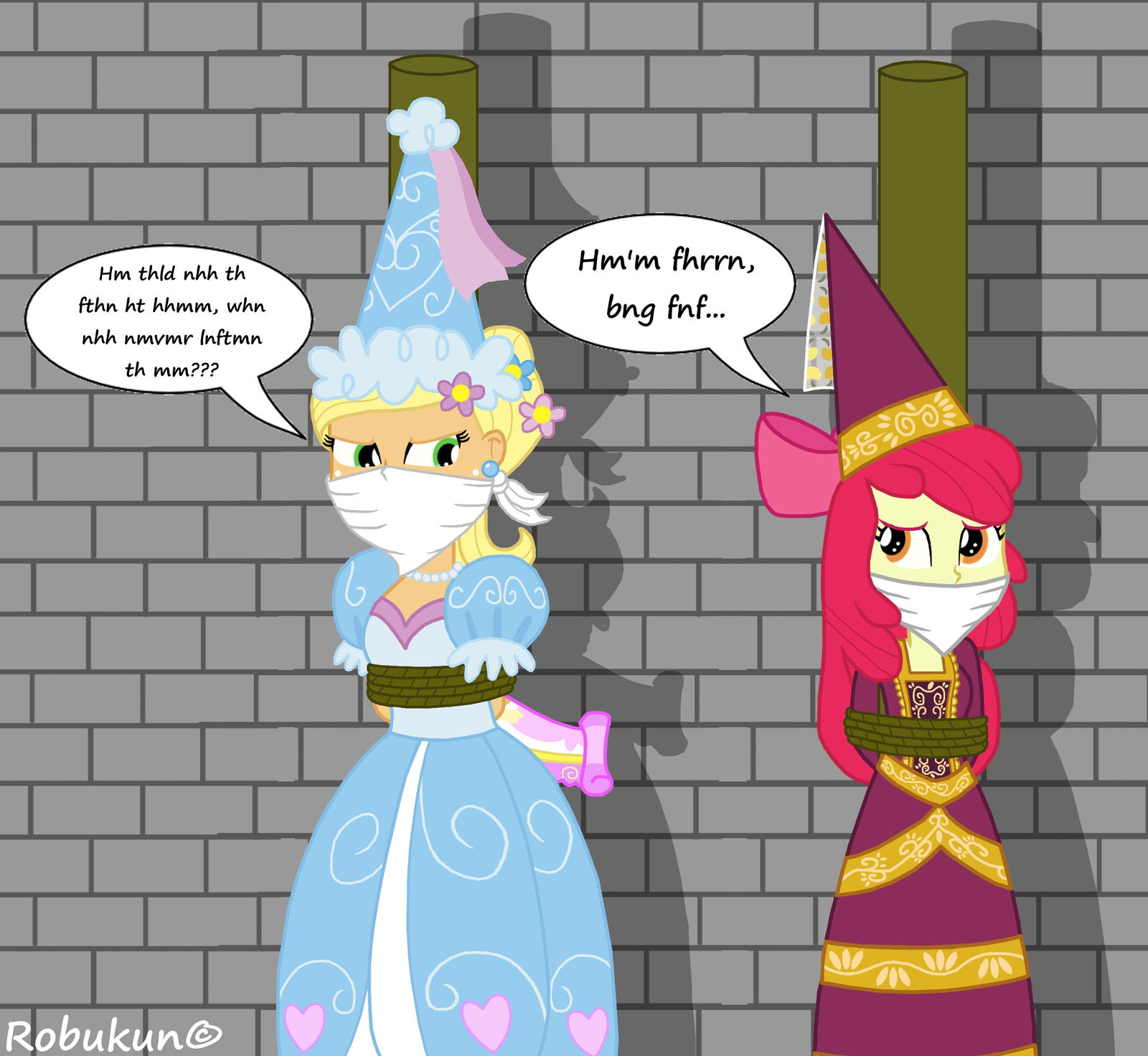 The Princess Siblings In Trouble By Robukun On DeviantArt