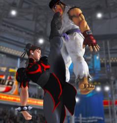 Chunli VS Ryu by qkrtkf