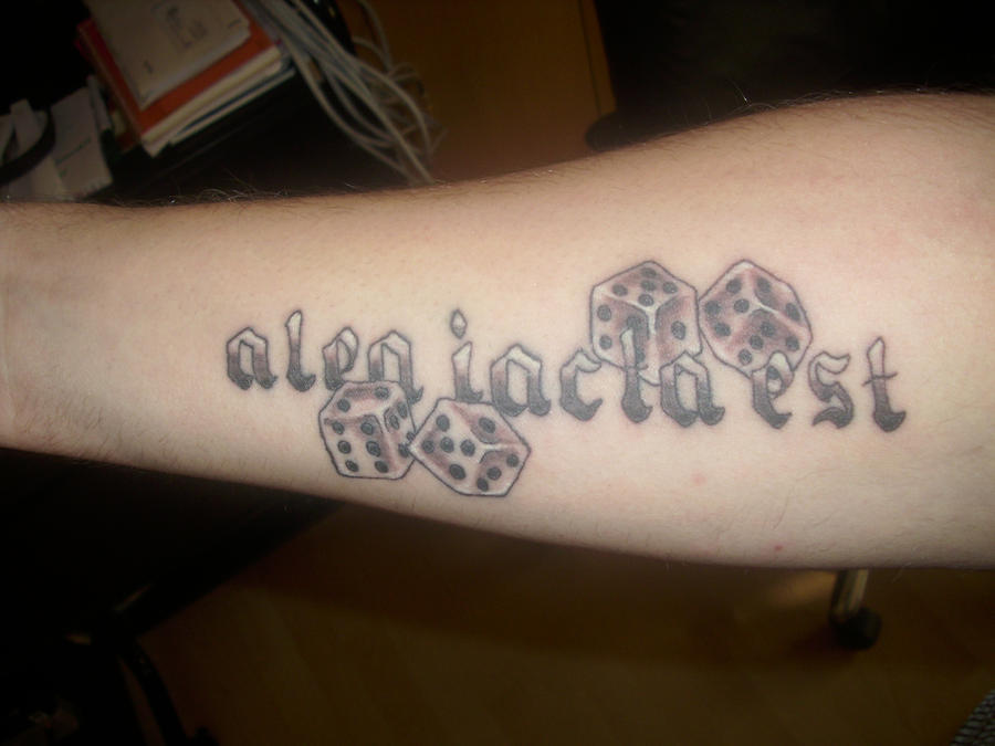 Tattoo alea iacta est by ~FloscH-art on deviantART