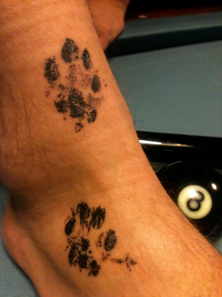 tattoo cat paw print by flosch art on deviantart
