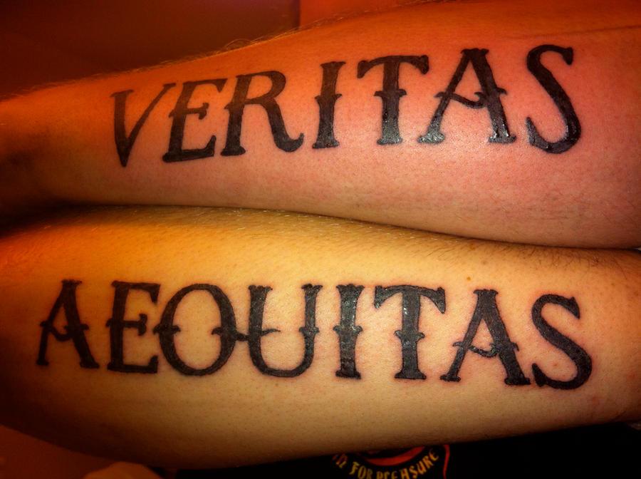 Tattoo aequitas veritas by flosch art on deviantart for Veritas aequitas tattoos