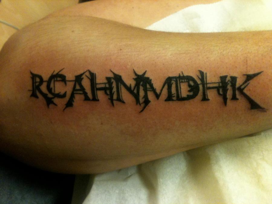 Tattoo initials by flosch art on deviantart