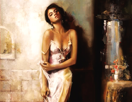 Oil Painting Beautiful Women by MarieJhonson on DeviantArt