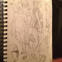 Sketching at Starbucks by rndmtask