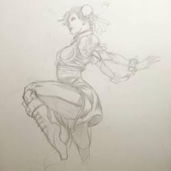 Chun Li sketch  by rndmtask
