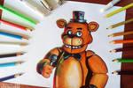 Freddy Fazbear Art tradicional - by calesote514