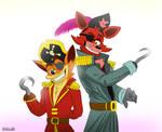 Crash Bandicoot And Foxy [FNAF514] - Calesote514