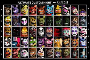 Fnaf514 Ultimate Custom Night UCN - Calesote514