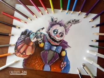 Clown springtrap Art Tradicional - Calesote514