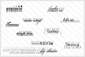 Icon text brushes 2 by Elvynn
