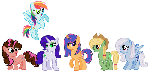 ((OLD)) Mane Six Kids Adoptables CLOSED by PrincessDeathWish