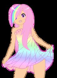 DOLL: Human!  Pastel Rainbow (Mariko) by PrincessDeathWish