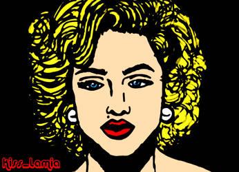 Madonna 90's Colour Portrait by kiss-lamia-lilith