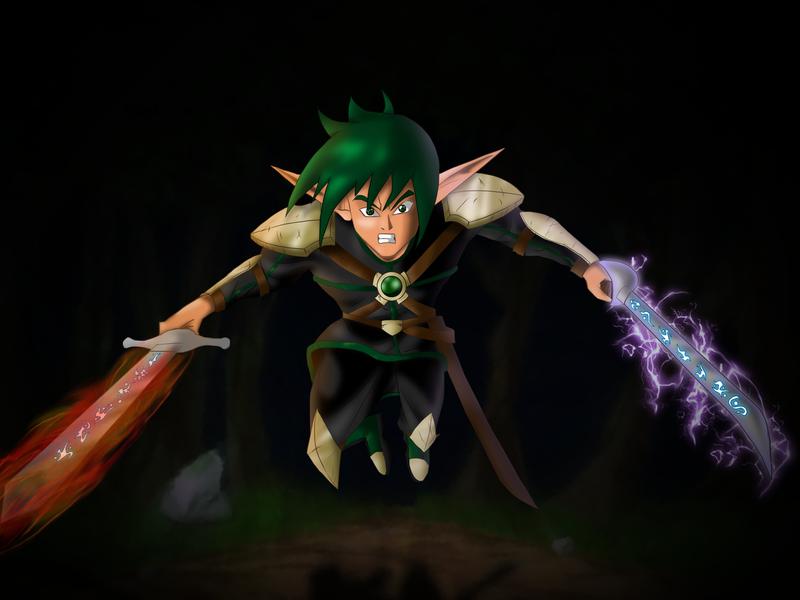 Kalic Leaps Into Battle by DCGIL