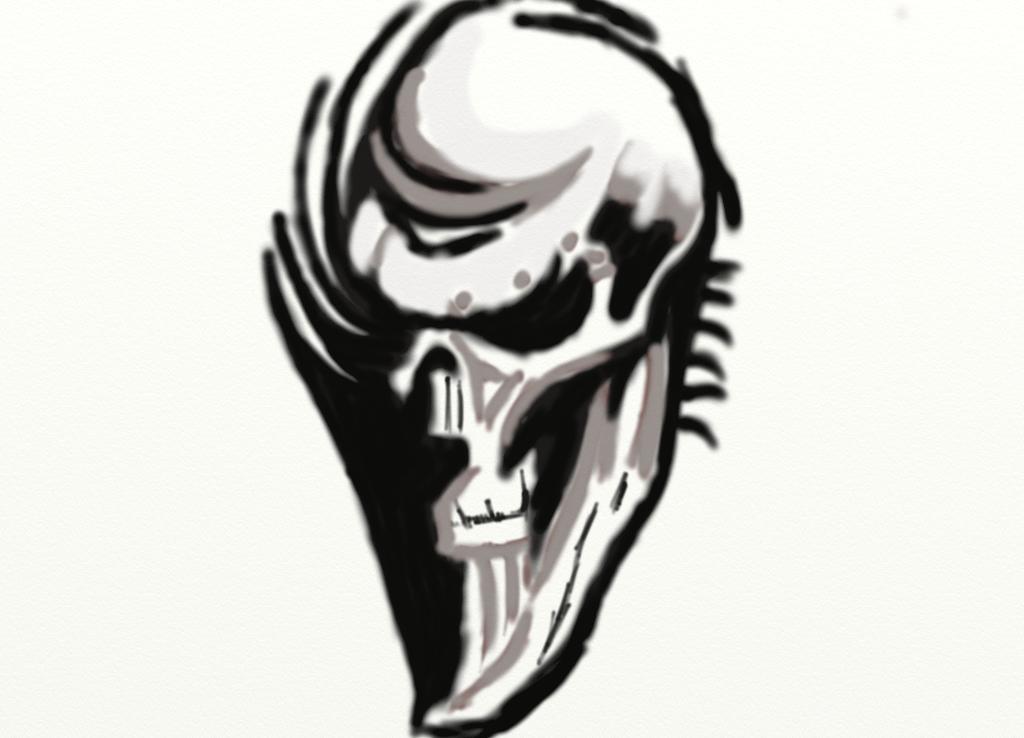 Skull tattoo by emmawhit