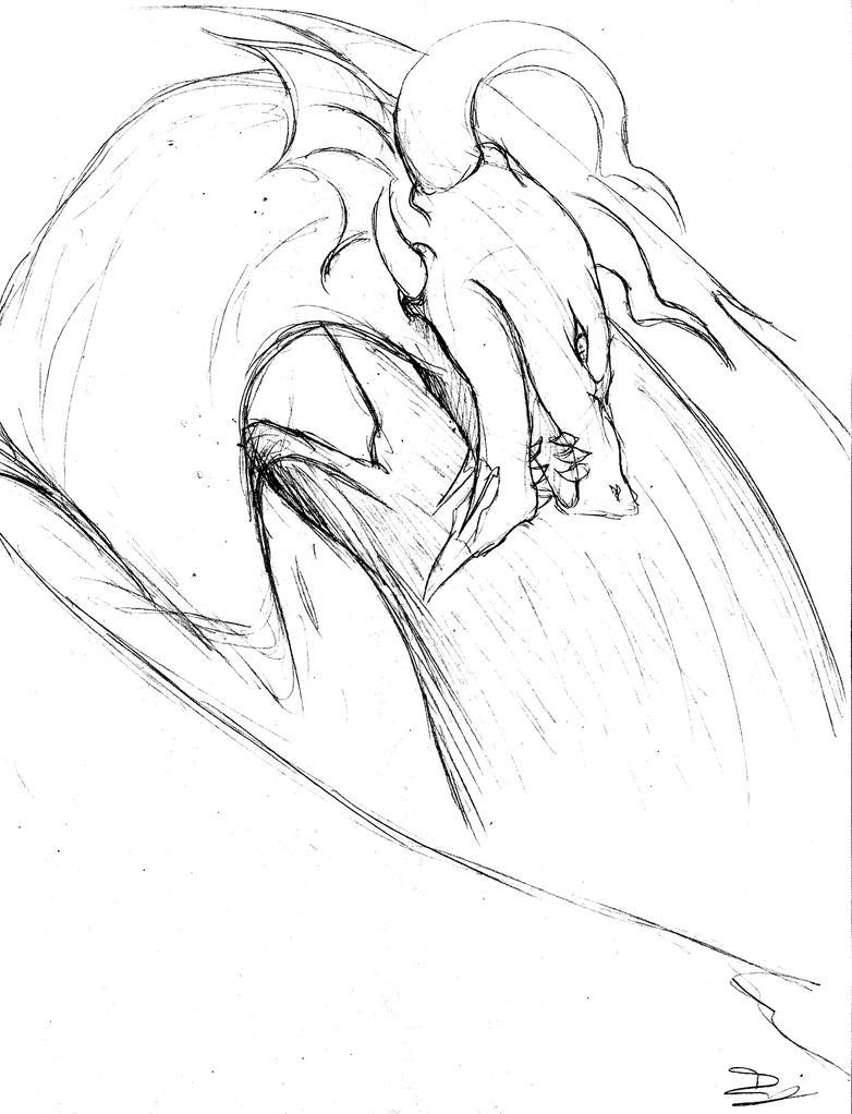 Dragons Sketch by ohitsuji101