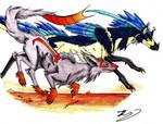 Contest-Monstartist-Lets Race!!! by ohitsuji101