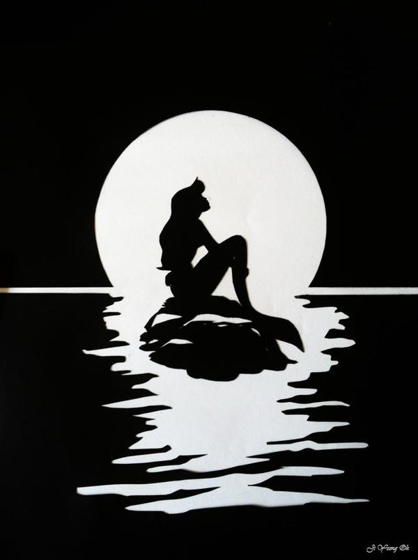 The Little Mermaid Ariel silhouette by jiyeong96
