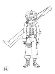 Naruto OC - blind boy by Stefanxp