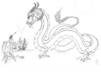 samurai vs. dragon by Stefanxp