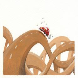 Red beetle by porcelanita