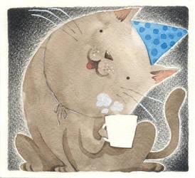 Birthday Cat by porcelanita