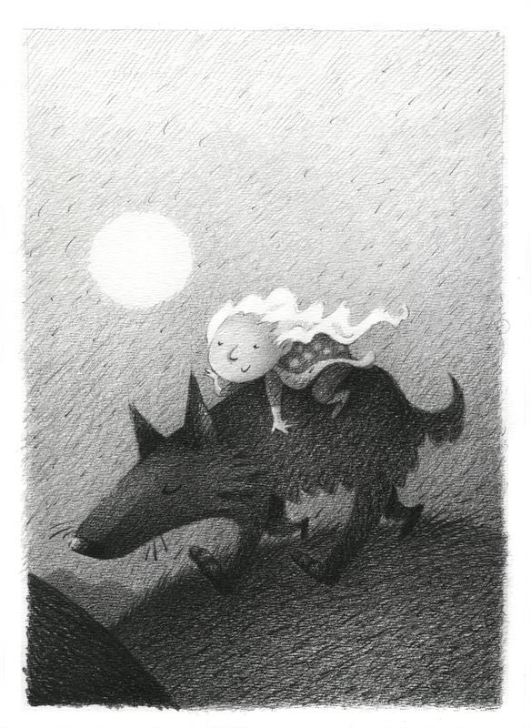 Nena y Lobo by porcelanita