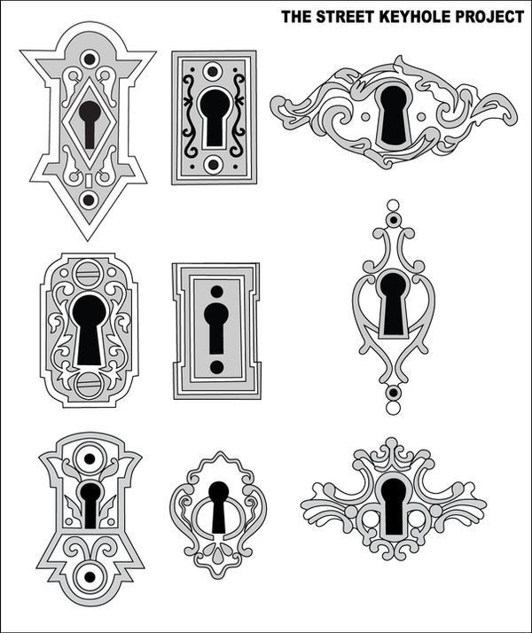 The street keyhole project by devarcan on deviantart for Door key design