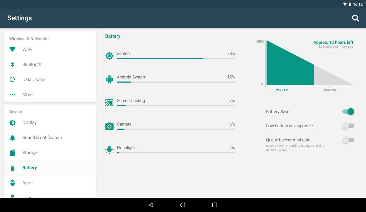 Android Lollipop Settings App Tablet Layout Concep by itayganor on