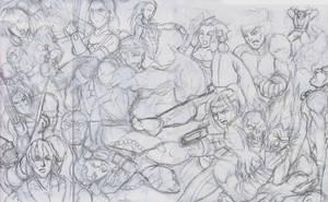 Streetfighter vs Mortal Kombat by Tonioart