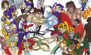 Streetfighter vs MK Colors by Tonioart