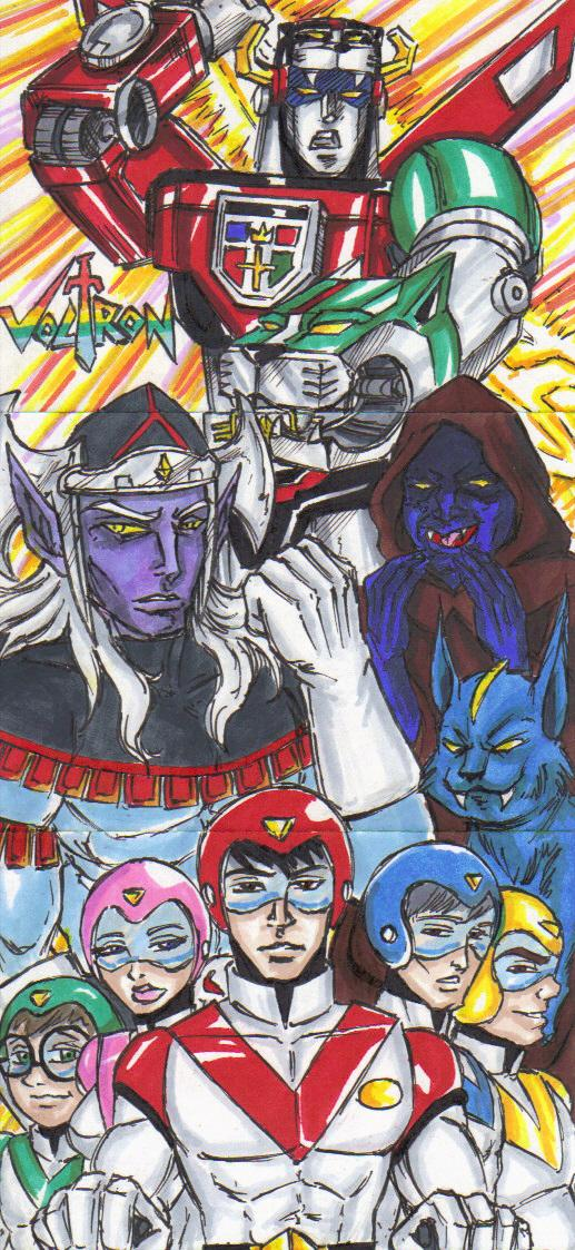 voltron sketch card submission by Tonioart