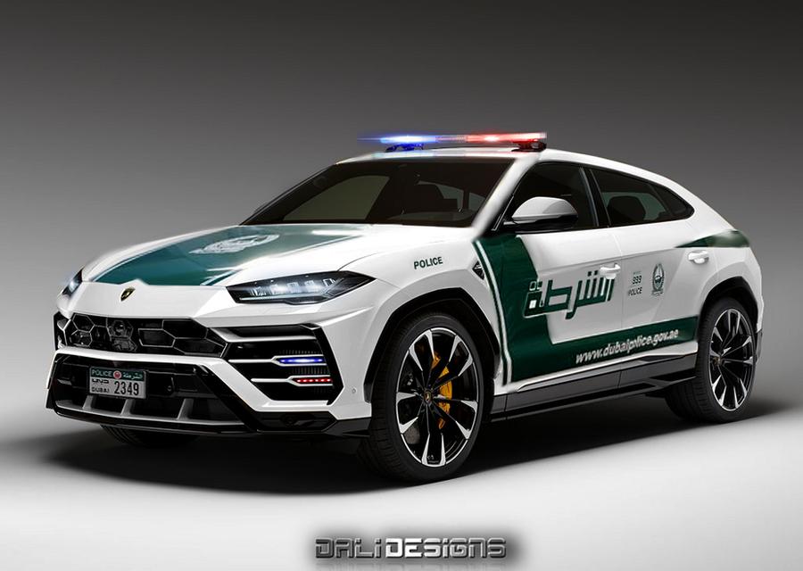 2018 Lamborghini Urus Dubai Police by dly00 on DeviantArt