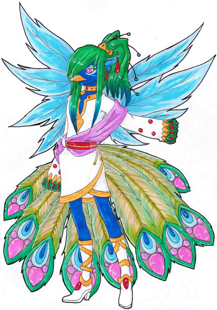 Pfau Fairy by StrawberryXaos