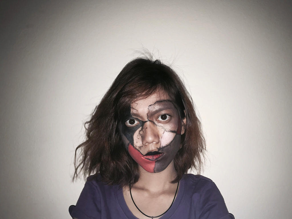 Self face painting homework NO.2 by DHarleyArts