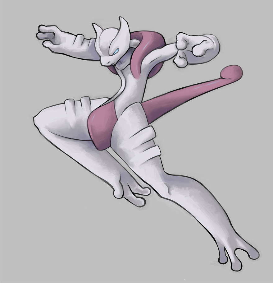 Mega mewtwo x by phi8 on deviantart - Mewtwo y mega evolution ...