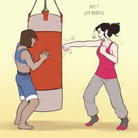 Korrasami Week 2016 - Day 7: Gym Buddies by Phi8