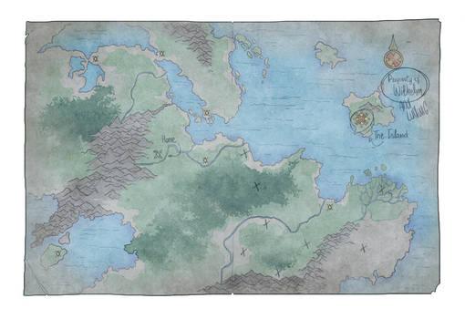 Drakenridders - Wilhelm's Map