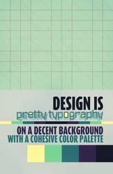 Design Is Pretty Typography by Pryanka