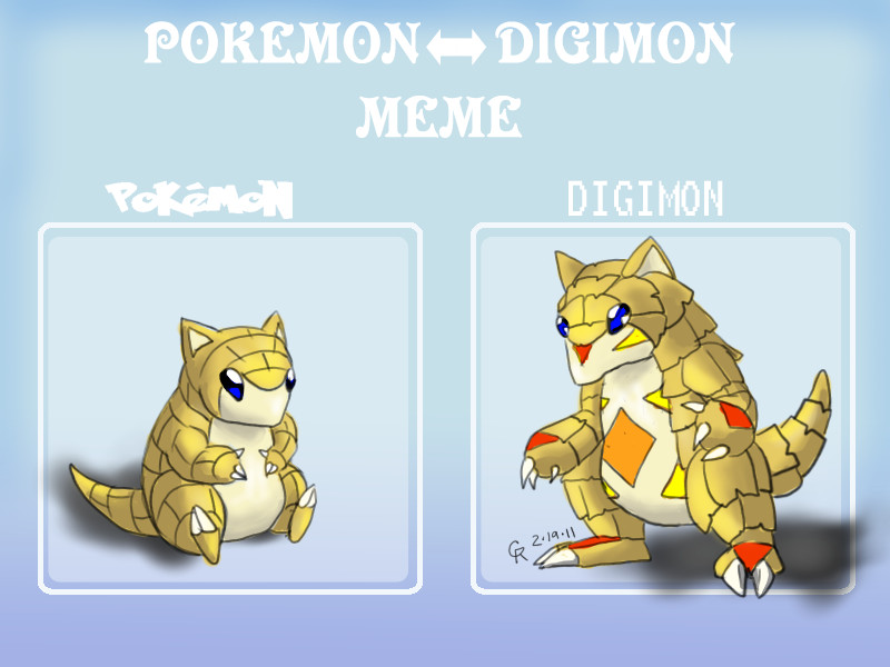 DeviantArt: More Like Digimon Sandshrew by LuckyNeko13