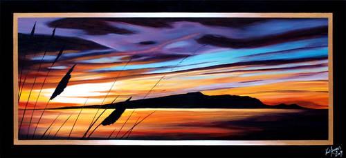 Violet Blue Sunset by karlandrews