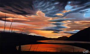 Sunset Over Lake Wakatipu by karlandrews