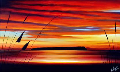 Mana Island Sunset by karlandrews