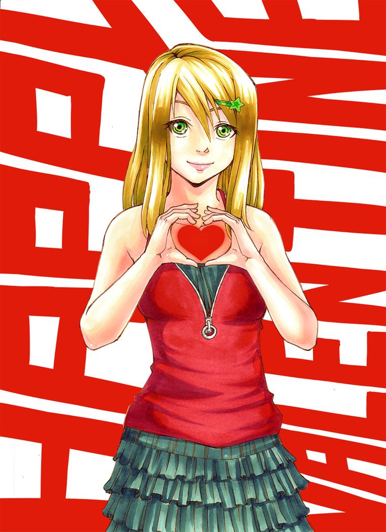 [OC] Lina Lockhearts - Happy Valentine by kurisart