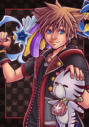 [FANART] Kingdom Hearts III : Sora and Chirithy by ChronosLS