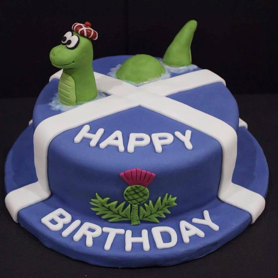 Scottish Themed Birthday Cakes