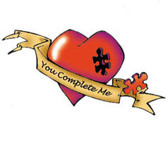Tattoo flash: You complete me
