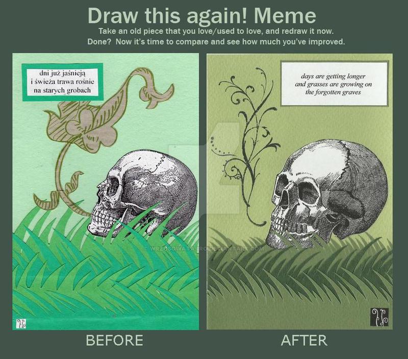 haiku 034 - BEFORE and AFTER Meme by wrzosowata-Iro