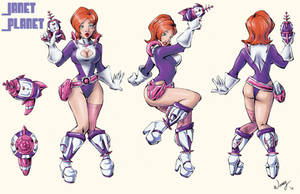 Janet Planet Model Sheet by Attache